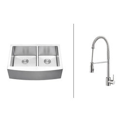Ruvati - RVC2446 Stainless Steel Kitchen Sink and Polished Chrome Faucet Set - Ruvati sink and faucet combos are designed with you in mind. We have packaged one of our premium 16 gauge stainless steel sinks with one of our luxury faucets to give you the perfect combination of form and function.