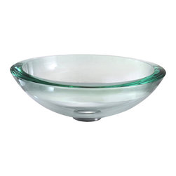 Kraus - Kraus Clear 34mm edge Glass Vessel Sink - *Fashionable bathroom sink is the perfect harmony of elegance and style