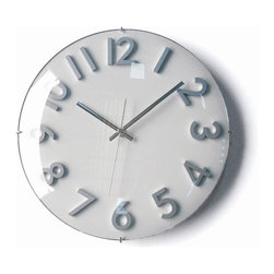 Nuevo Gillam Clock - White - Hgce144 - This clock is simple, sleek yet not sterile. There is a modern sense of warmth to it, and I found myself instantly attracted to the soft gray palette and clean clock hands. This one is a keeper, and I want it in my laundry room.