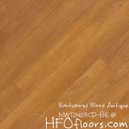 Earthwerks Wood Antique Beveled Edge Plank - Earthwerks Wood Antique, NWT0403CD-BE. Available at HFOfloors.com.