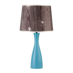 Lights Up - Oscar Boudoir Round Table Lamp (Tan Cornflower) - Fabric: Tan Cornflower. Bulb not included. Requires one 60 watt bulbs. UL listed. On/Off socket switch. Voltage: 120 Volts. 9 in. Dia. x 18 in. H
