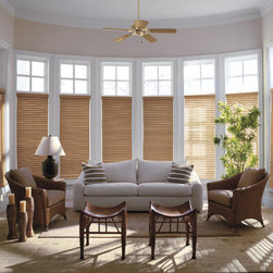 "Levolor 2"" Premium Wood Blinds in Maple - Levolor 2"" Premium Real Wood Blinds bring the warmth, beauty and elegance of nature into your home. You will be able to choose from an exciting range of styles, finishes and colors to ensure these Levolor wood blinds match your home decor exactly."