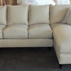 Robin Bruce Cindy Sofa, Sectional, Chair and Ottoman - Robin Bruce Furniture Cindy Sectional (Down Wrapped Cushions) You Choose the Configuration to fit YOUR room dimensions. You Choose turned or tapered leg. You Choose the Fabric