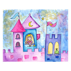 Oh How Cute Kids by Serena Bowman - Wishing Star, Ready To Hang Canvas Kid's Wall Decor, 16 X 20 - I really love the sky in this picture - so much so that this probably the first children's art that I did not include my signature border -- I wanted as much of the dreamy sky to be seen as possible.