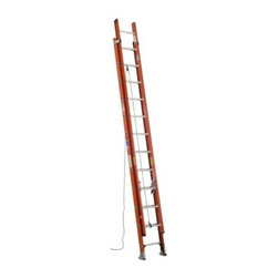 Werner D6228-2 28 ft. Fiberglass Extension Ladder - The Werner D6228-2 28 ft. Fiberglass Extension Ladder is the ideal way to take care of jobs that require more reach. This ladder is constructed of heavy duty fiberglass and offers a 300-pound duty rating. It offers a working height of 21 feet and a heavy duty pulley system for a smooth extension. It also features direct rung to rail connections, slip-resistant Traction-Tred D-rungs, and pre-pierced holes for easy field installation of accessories. A durable rail shield bracket and Shur-Lok slip-resistant pad and spur plate ensure a secure and stable footing at the base.About WernerWerner is an industry leader that has manufactured and distributed ladders and climbing equipment for over 60 years. Werner ladders are found on more trucks and job sites than all other brands combined. Each product offers a state-of-the-art design and manufacturing process, creating professional-grade products that are made to be utilized in the home as well as on the job site. Werner Co. products are built to meet or exceed all applicable American National Standards Institute (ANSI) and Occupational Safety and Health Administration (OSHA) code requirements.