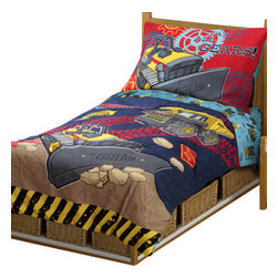 Betesh Group - Tonka Truck All Gears 4-Piece Toddler Bedding Set - Features: