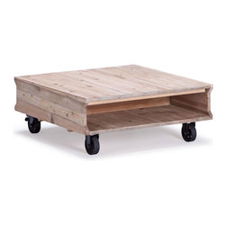 Westlake Coffee Table Natural Oak - Fir Wood and Metal Coffee Table in Natural Oak