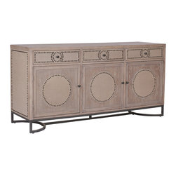 Gabby - Luther Cabinet - The Luther cabinet is as functional as it is beautifully unique. The piece features fold-down drawer fronts for easy access to media, whether it's a receiver, DVD player, Wii or DVR. Media cords can be run through holes drilled in the back of the cabinet.