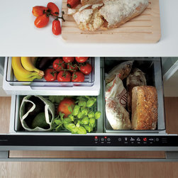 """36"""" CoolDrawer - RB36S25MKIW1z - The CoolDrawer™ has been designed to change from refrigerator to freezer at the touch of a button. It is built on the concept of distributed refrigeration, combining ActiveSmart™ Technology with a drawer-based design that can be placed anywhere in the kitchen, home or entertainment area. The CoolDrawer™ provides five temperature settings to deliver total flexibility — freezer, chill, fridge, pantry and wine modes, merging intelligence with convenience."""