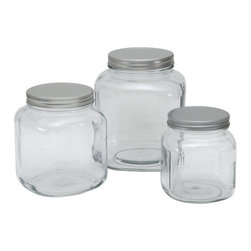Anchor Hocking Cracker Jar With Lid - If you want a fresh alternative to apothecary jars, try these vintage-inspired cracker jars. I like that the lids screw on tightly to keep the goodies fresh (and to make it a little harder for grabby hands to get into).