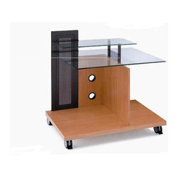 New Spec - Laptop Table - Prota 20 - Color/Finish: Beech. Material: Tempered Glass/MDF. . 35.43 in. L x 22.83 in. W x 35.43 in. H (47 lbs)
