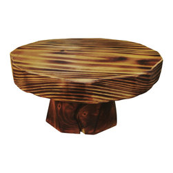 """Three Arrow Design & Build - Broadleaf Cake Stand, 16"""" - This Cake Stand has a redwood top offers a unique twist on the classic cake stand."""