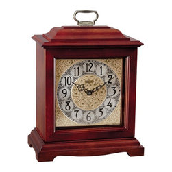 HERMLE - Ashland Mantel Clock With Mechanical Movement and Cherry Finish - American styled bracket clock in an elegant cherry finish