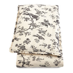 "French Laundry Home - King Toile Duvet Cover 108"" x 98"" - BLACK/WHITE (KING) - French Laundry HomeKing Toile Duvet Cover 108"" x 98"" Designer About French Laundry Home:French Laundry Home introduced by designer Debbie Jones in 2007 is a collection of bedding tabletop linens tabletop accessories and furniture that is evocative of vintage French textiles and furnishings. Every item in the collection is crafted in the United States by local artisans and craftsmen in North Carolina."