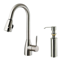 Vigo - VIGO Pull Out Spray Kitchen Faucet - Show your kitchen off by updating the look of it with this stylish, durable VIGO faucet