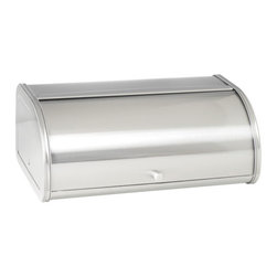 Anchor Hocking - Brushed Steel Bread Box - Anchor Hocking Anchor 98949 - Brushed Steel Bread Box - Fingerprint Free