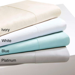 None - Sleep Philosophy and Liquid Pima Cotton 300 Thread Count Sheet Set - Have the luxurious look and feel of silk with this cotton pima sheet set. This 300-thread count set includes a fitted sheet,flat sheet,and two pillowcases that are available in several colors,including ivory,winter white,platinum,and blue.