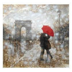 VG - Rain Embrace Oil Painting On Canvas and Metal - Rain Embrace Oil Painting On Canvas and Metal