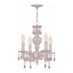 Crystorama - Four Light Chandelier - Paris Flea Market offers casual yet elegant, whimsical and chic chandeliers, wall sconces, and ceiling mounts.