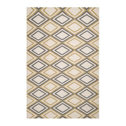 Surya - Surya Frontier Hand Woven Beige Wool Rug, 9' x 13' - Frontier Collection features a series of flat-weave reversible designs with tribal and casual themes. Hand woven in India, these rugs are produced from the finest wool with unique patterns designed to enrich any room. Fashionable, durable and affordable, these styles are sure to update any decor. Imported.Material: 100% WoolCare Instructions: Blot Stains