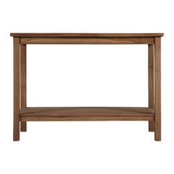 "48"" Tegal Teak Buffet Table - Get grilling in style with the Tegal Buffet Table, made of water-resistant teak. This table provides a lovely landing spot for your outdoor dining accessories."