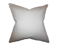 "The Pillow Collection - Mabel Solid Pillow Khaki - This accent pillow creates a simple and clean vibe to your home. This toss pillow comes with a khaki hue which makes it easy to pair with solids and other patterns. Made of 100% high-quality cotton material. This 18"" pillow is a perfect transitional piece for your sofa, bed or couch."