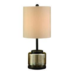 """Crestview - Crestview CVABS638 Stanton Table Lamp 25""""Ht. - Stanton Table Lamp 25""""Ht.   25""""Ht., 12 x 12 x13 Cream Fabric"""