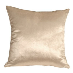 Pillow Decor - Pillow Decor - Milano 20 x 20 Cream Decorative Pillow - The Milano 20 x 20 Cream Decorative Pillow is a luxurious, high sheen accent pillow, made from an exceptionally soft but durable fabric. The fabric has a flat brushed velveteen finish through which fine, narrow, horizontal lines are cut. This richly colored pillow is elegant and sophisticated and would be suitable in formal and informal settings.