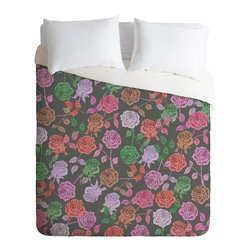 DENY Designs - DENY Designs Bianca Green Roses Vintage Duvet Cover - Lightweight - Turn your basic, boring down comforter into the super stylish focal point of your bedroom. Our Lightweight Duvet is made from an ultra soft, lightweight woven polyester, ivory-colored top with a 100% polyester, ivory-colored bottom. They include a hidden zipper with interior corner ties to secure your comforter. It is comfy, fade-resistant, machine washable and custom printed for each and every customer. If you're looking for a heavier duvet option, be sure to check out our Luxe Duvets!