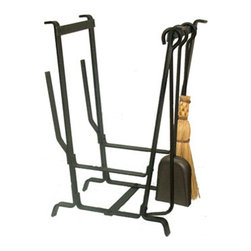 "Enclume - Premier Complete Hearth Rack With Tools - Dimensions: 13""L x 20""W x 29""H"