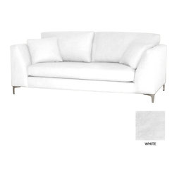 Apt2B - Mulholland Sofa, White - Classic and cozy with a modern twist. The clean lines of the Mullholland Collection will show off your chic style without taking center stage. Dress it up with a few toss pillows or a retro lamp, and watch your space come together.