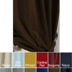None - Thermal Rod Pocket 95-inch Blackout Curtain Panel Pair - These insulated blackout curtain panels make a lovely addition to any home. They allow you to customize the light in your space and help to insulate against the heat and cold. The 100-percent polyester fabric is machine washable for your convenience.