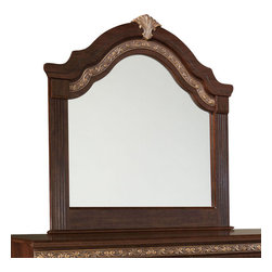 Standard Furniture - Standard Furniture Liberty Hall Arched Mirror in Cherry - Rich traditional details give Liberty Hall its dignified styling, its classical heritage and its timeless appeal.