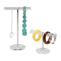 Grooved Acrylic Jewelry Stands