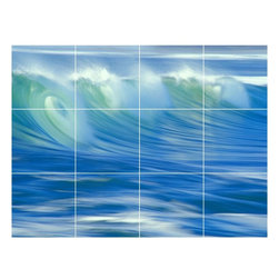 Picture-Tiles, LLC - Wave Picture Bathroom Shower Tile Mural  18 x 24 - * Wave Picture Bathroom Shower Tile Mural 2179
