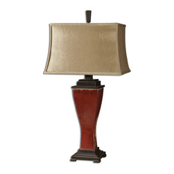 Uttermost - Lamp With Metal Accents From The Abiona Collection - Lamp With Metal Accents From The Abiona Collection