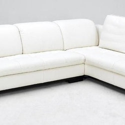 Advanced Adjustable Tufted Leather Sectional with Chaise - Features: