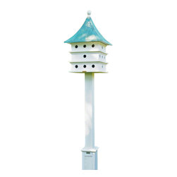 G.D. - Lazy Hill Farm Designs Ultimate Martin Bird House with Blue Verde Copper Roof - A Purple Martin Paradise and a gorgeous focal point in any yard.