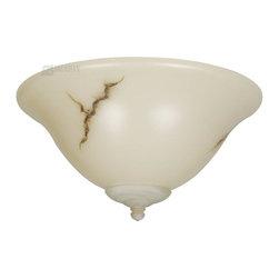 Craftmade - Craftmade Brown Alabaster Glass Elegance Bowl Light Kit - Energy Star X-GRN-94EK - Elegance Bowl Kit w/ GU24 CFL Bulbs Included - Brown Alabaster Vein Glass