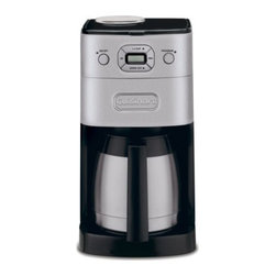 CUISINART/WARING - COFFEEMKR 10CP THRML BRSH CHRM - Grinds beans just before brewing. A double-wall in sulated brushed stainless steel thermal carafe keeps up to 10 cups of coffee hot for hours.