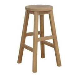 Anderson Teak - Alpine Round Counter Stool - The Alpine Counter Stool is design for any purpose of seating chair. It is economical, simple but yet, strong and comfortable enough for sitting gathering with your family or friends for hours. It is generously sized for added comfort and handsomely crafted in solid construction of plantation kiln dried teak, which makes this chair a wise choice for your seating needs. Add any counter table or bar table of your choice for a complete set. Cushion is optional.