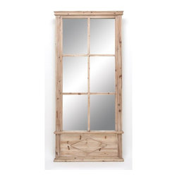 Benzara - Wood Mirror 78in. High For Special Spots - WOOD MIRROR is an excellent anytime low priced wall decor upgrade option that is in high demand as modern age low budget home interior decor item. It is beautifully designed by the experienced artists.