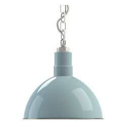 Steber Wilcox Deep Bowl Chain Hung Pendant - For an elegant, factory warehouse pendant light, turn to the Wilcox Chain Hung Pendant. This chain hung light features our vintage-inspired porcelain-steel deep bowl shade.