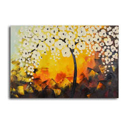 "Moonlight blooms unearthed Hand Painted Oil Painting - Size: 24"" x 36"""