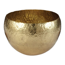 Lazy Susan - Lazy Susan LZS-346023 Gold Hammered Brass Bowl - Large - Fill this with potpourri and place it anywhere in your space. Try it in the entryway or even on your dresser. It's made by hand for a one-of-a-kind character.