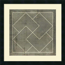Amanti Art - Vision Studio 'Geometric Blueprint III' Framed Art Print 21 x 21-inch - With symmetry and straight lines this Geometric Blueprint III print will bring visual interest to any space.