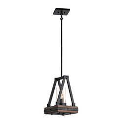 Kichler Lighting - Kichler Lighting 43435AUB Colerne Lodge/Country/Rustic Mini Pendant Light - Kichler Lighting 43435AUB Colerne Lodge/Country/Rustic Mini Pendant Light In Auburn Stained Finish