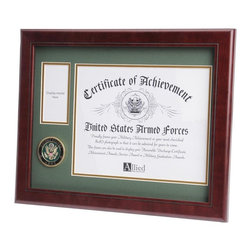 US Army Certificate Medal Frame - 13-Inch by 16-Inch Military Certificate and Medal Frame
