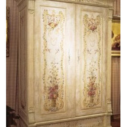 """Habersham - Habersham Lorraine Armoire - It all started in the small North Georgia town of Clarkesville. It was 1969 and Habersham founder Joyce Eddy had just been given the chance to operate a small antique shop located above an old laundromat. This was just the opportunity a woman of Joyce's vision and energy would turn into the perfect blend of utility artistry and soul. Looking for ways to make her antique business more profitable she began crafting small decorative purses from vintage wooden cigar boxes. They were totally unique and they were an instant hit. Joyce named her new venture Habersham Plantation after Georgia's Habersham County and the plantations for which the area was known. The ideas just kept coming. One day Joyce was driving by a local textile company and spotted a large pile of old discarded wooden spools. Those spools were soon crafted into candleholders towel racks and folk art items. With the help of her sons and other family members Joyce expanded Habersham's offerings to include handcrafted furniture reflecting the American Country designs of the early 17th and 18th centuries. As word spread and production demands grew Joyce enlisted the help of woodworkers from her North Georgia region. This area had been a center for cabinetmaking since the early 1800s and the master craftsmen were well-schooled in the time-tested woodworking and joinery techniques that matched Joyce's sense of style and function. She even designed her factory to work just as the 18th century cabinetmakers did with individual artisans hand-finishing signing and dating each piece of furniture they crafted. Today Habersham still leads the way in the fine art of furniture design. So much so that in addition to their product line a new """"whole home"""" concept is finding its way into some of the finest dwellings in the country. Custom kitchen bath and other cabinetry designs offer rich opulent finishes and blend seamlessly with rooms of casual elegance all enhancing today's grac"""