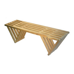 GloDea - GloDea Bench X60 - Teak Oil - The XQuare collection was conceptualized by the Brazilian designer Ignacio Lejarcegui Santos. This furniture line of unique designs is handcrafted 100% in Jacksonville, FL (USA). It is made from eco friendly premium southern yellow Pine, assembled using high quality stainless steel hardware and shipped in recyclable packaging! The XQuare collection has a modern and daring design with eye-catching lines that will surely get you many great compliments.
